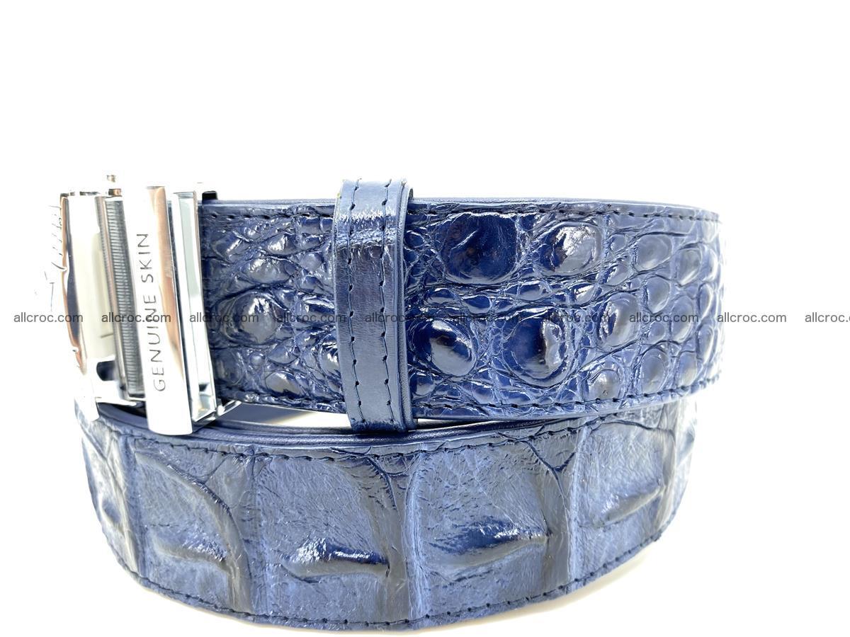 Handcrafted Crocodile leather hornback belt 745 Foto 2