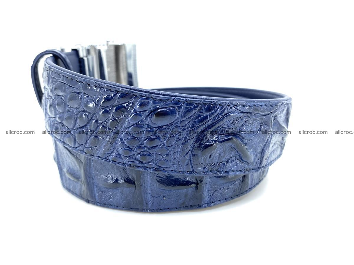 Handcrafted Crocodile leather hornback belt 745 Foto 3