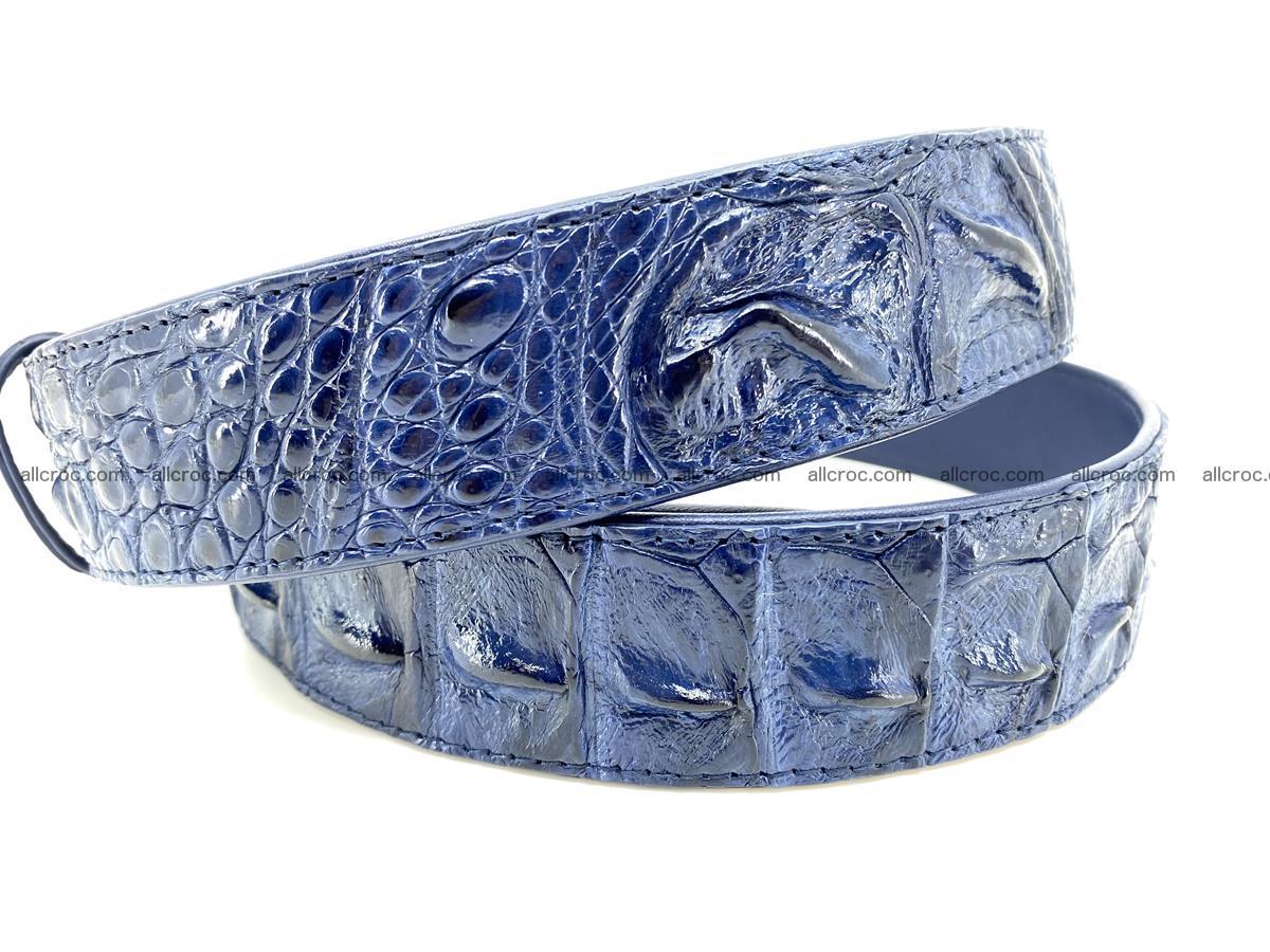 Handcrafted Crocodile leather hornback belt 745 Foto 4