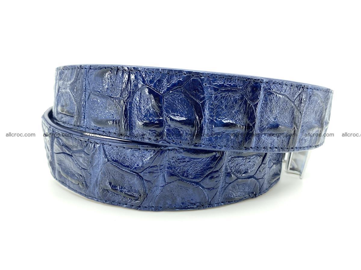 Handcrafted Crocodile leather hornback belt 745 Foto 5