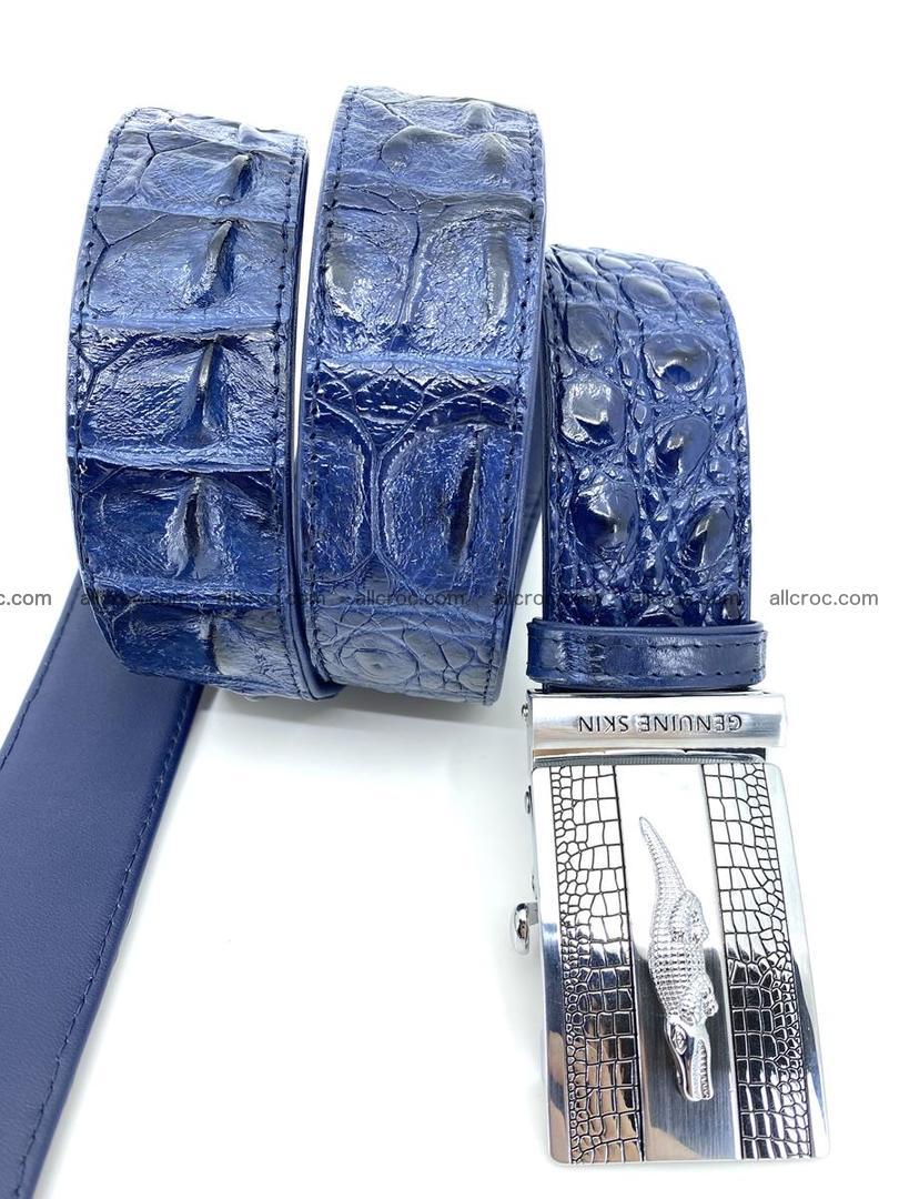 Handcrafted Crocodile leather hornback belt 745 Foto 6