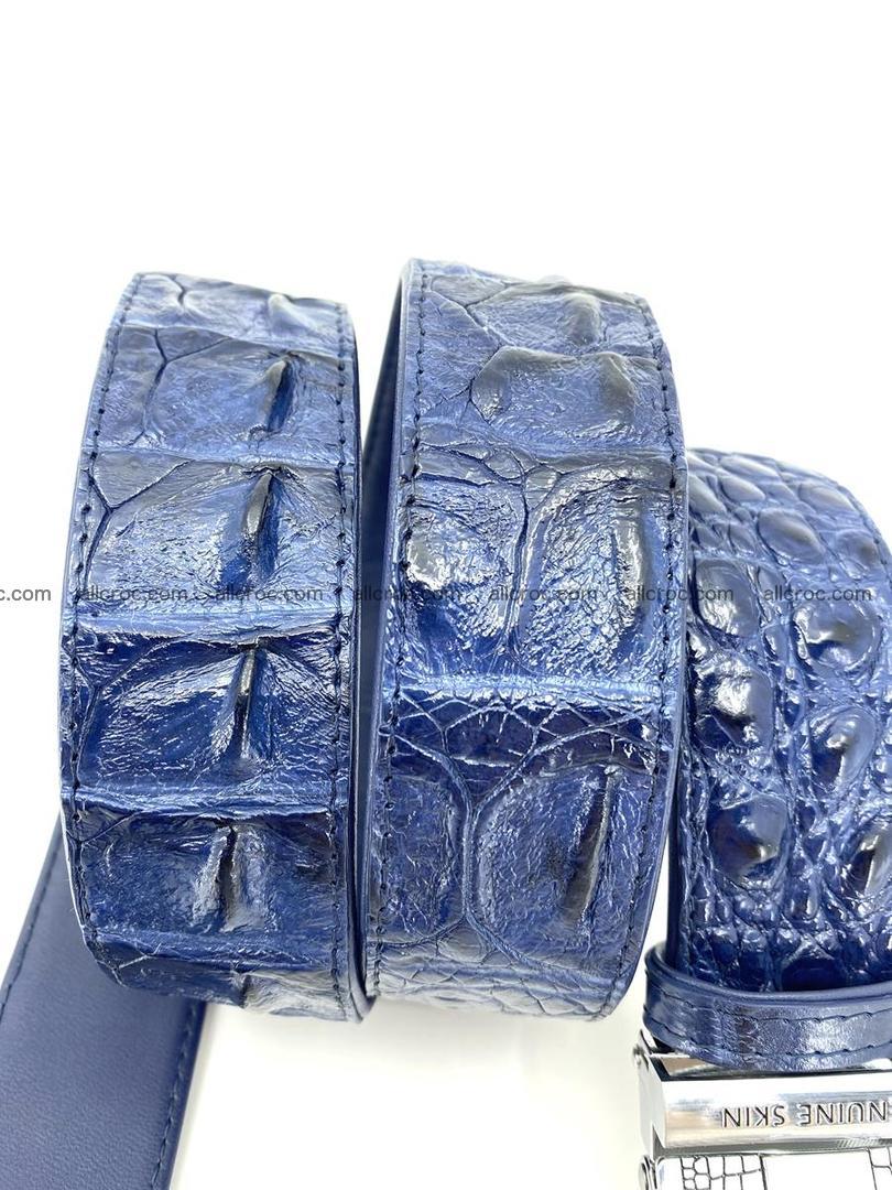Handcrafted Crocodile leather hornback belt 745 Foto 7