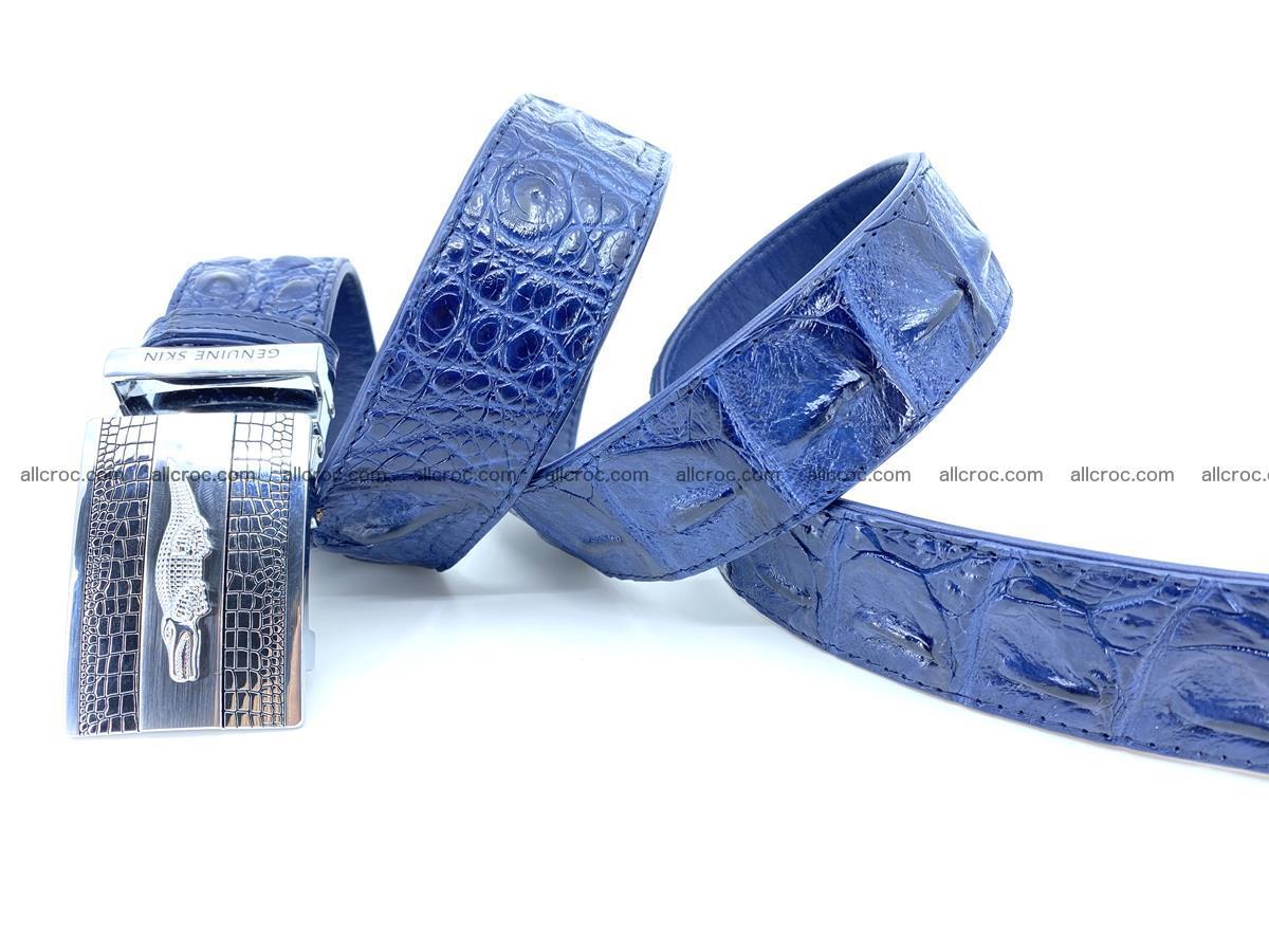 Handcrafted Crocodile leather hornback belt 745 Foto 8