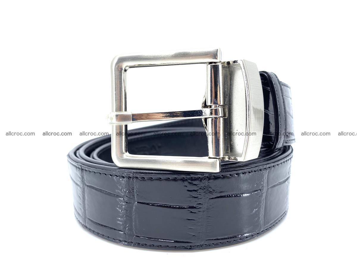 Handcrafted crocodile leather belt belly part 754 Foto 0