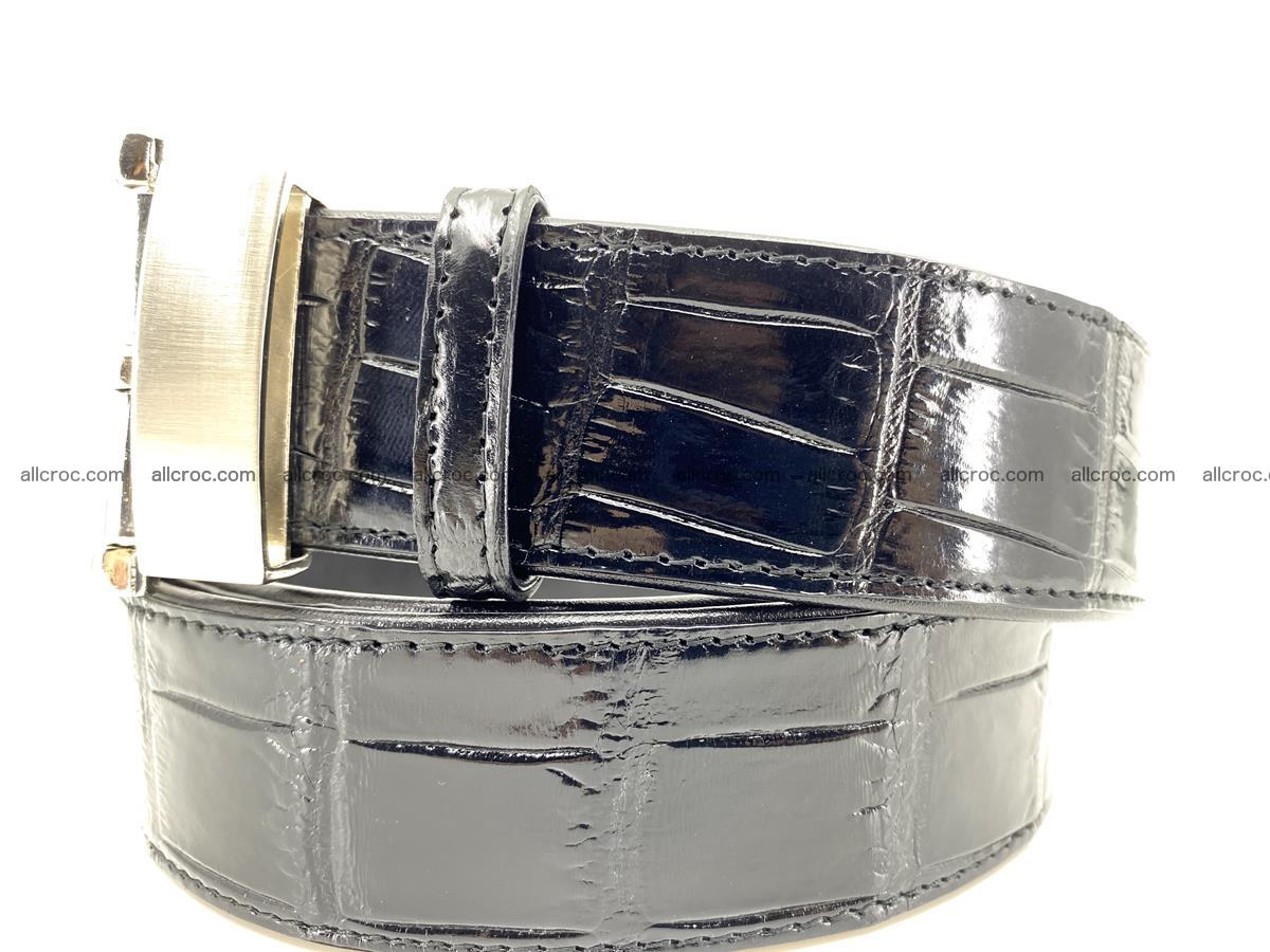 Handcrafted crocodile leather belt belly part 754 Foto 1
