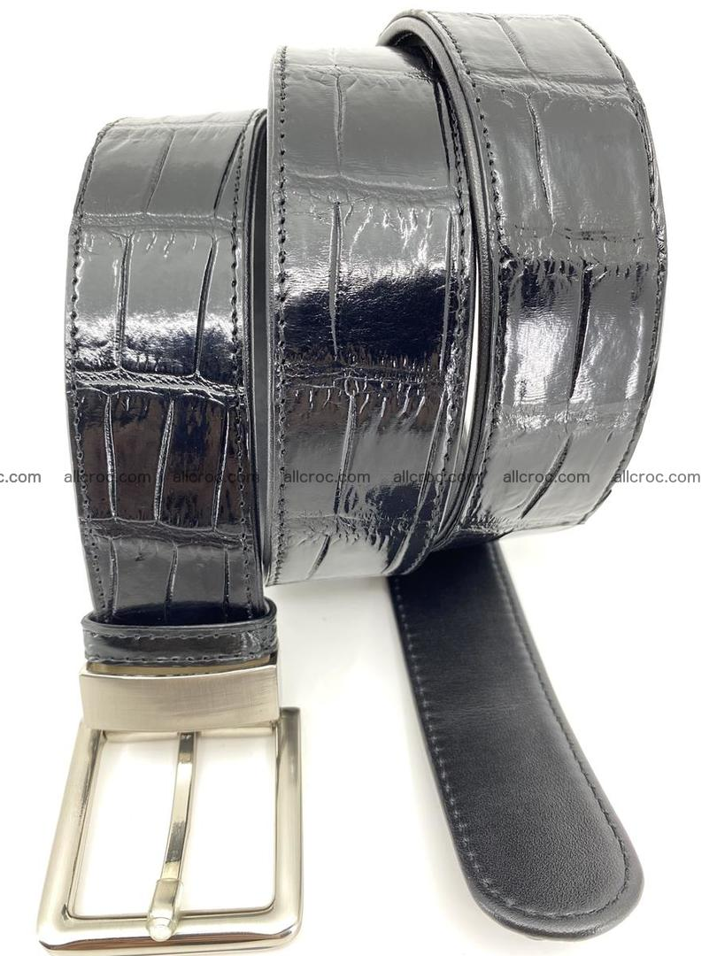 Handcrafted crocodile leather belt belly part 754 Foto 5