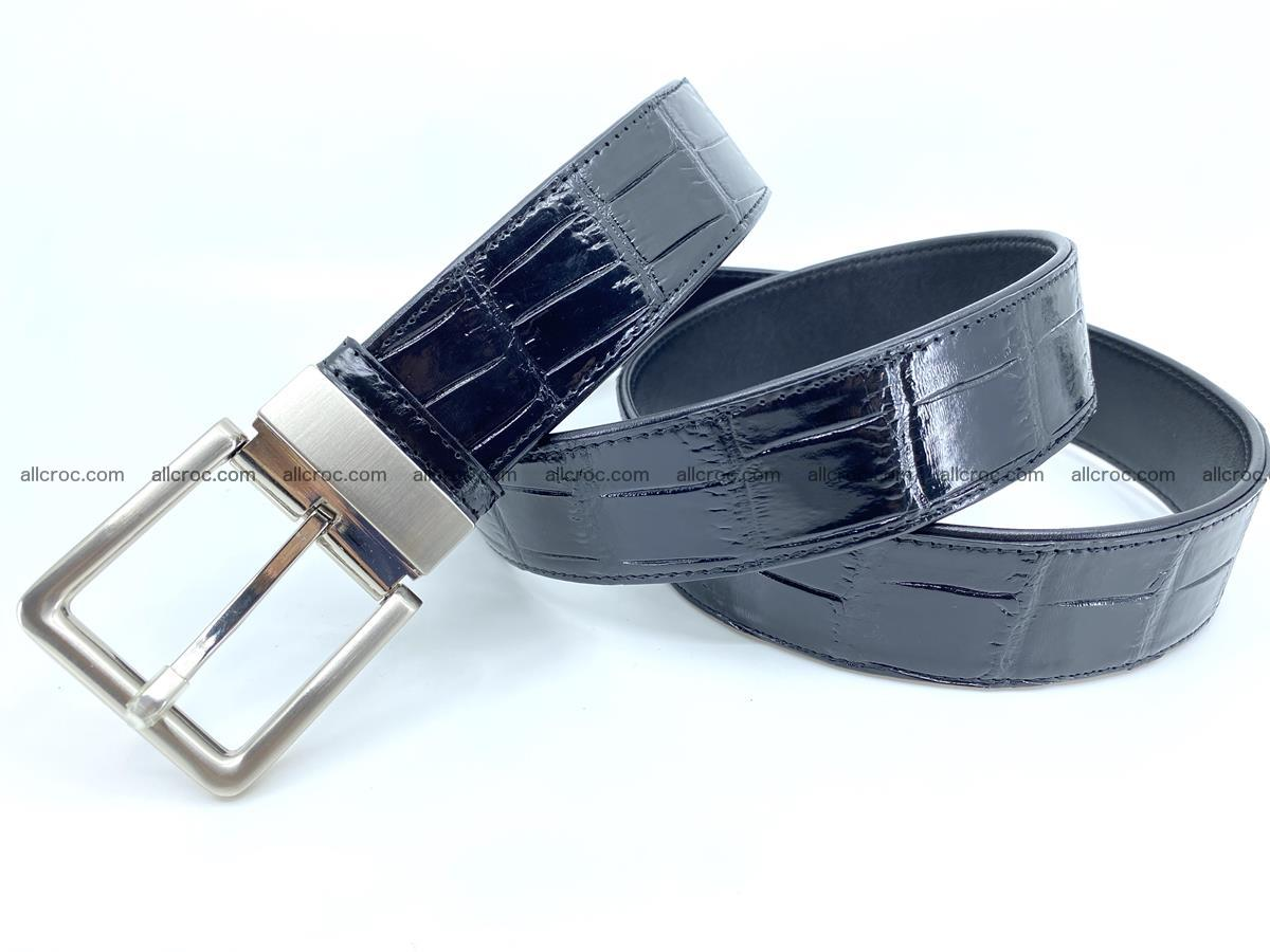 Handcrafted crocodile leather belt belly part 754 Foto 8