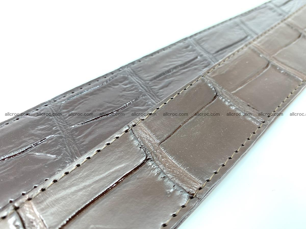 Handcrafted crocodile leather belt belly part 755 Foto 10