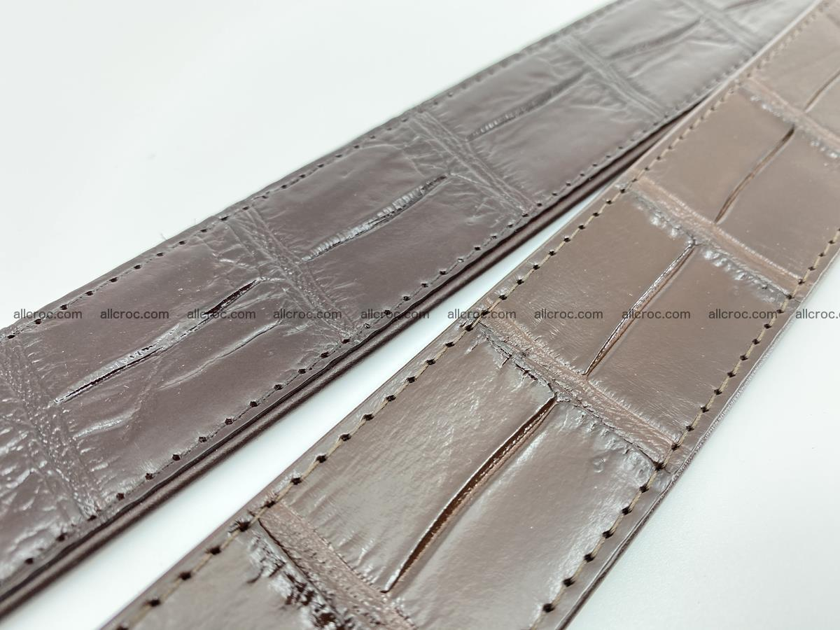 Handcrafted crocodile leather belt belly part 755 Foto 11