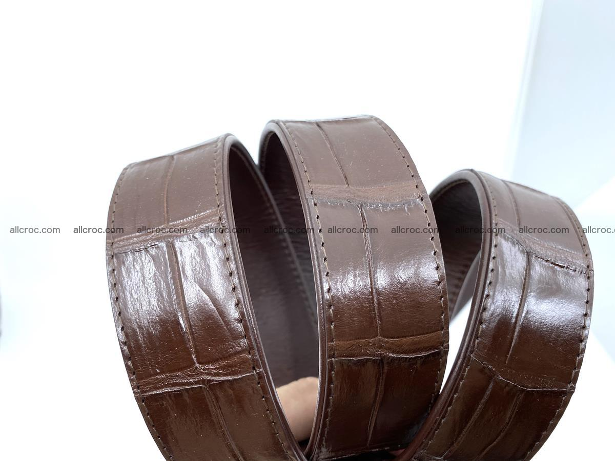 Handcrafted crocodile leather belt belly part 755 Foto 12
