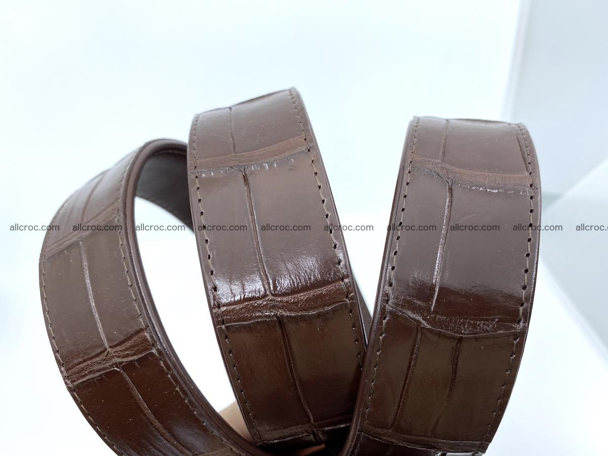 Handcrafted crocodile leather belt belly part 755 Foto 13