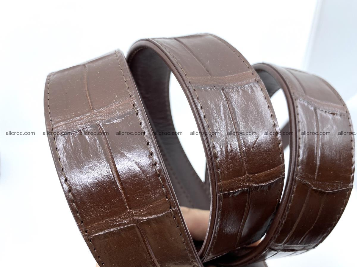 Handcrafted crocodile leather belt belly part 755 Foto 14