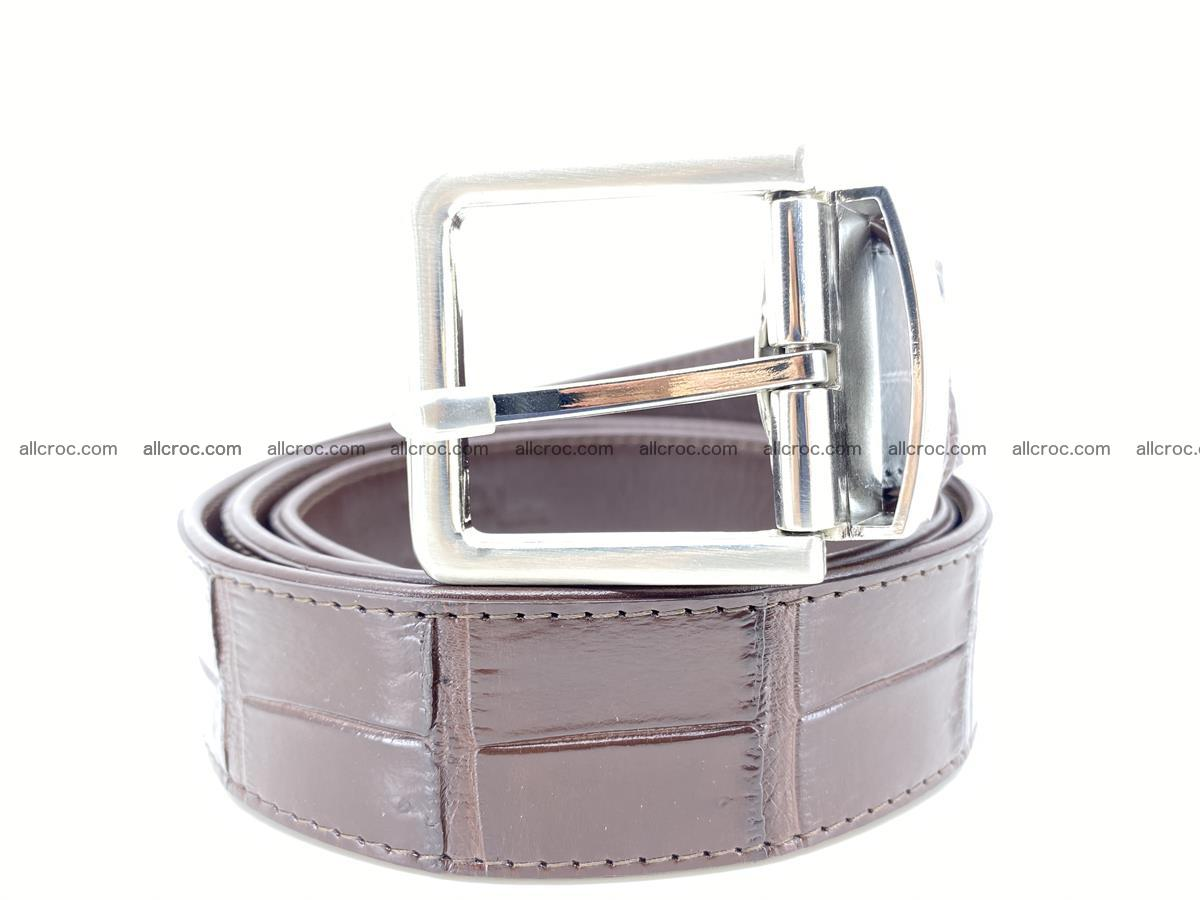 Handcrafted crocodile leather belt belly part 755 Foto 0