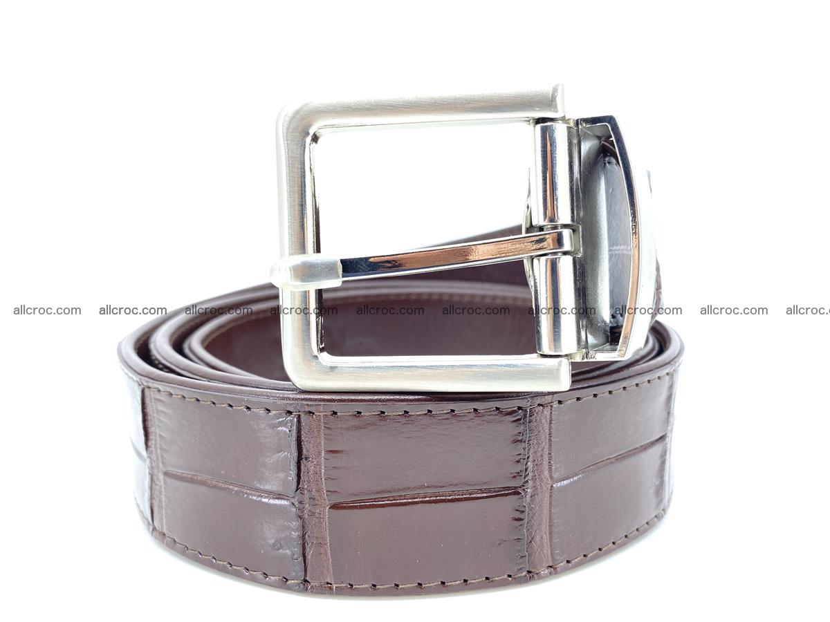Handcrafted crocodile leather belt belly part 755 Foto 1