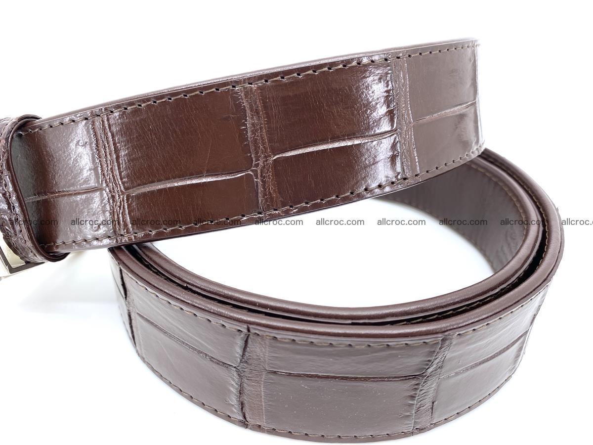 Handcrafted crocodile leather belt belly part 755 Foto 3