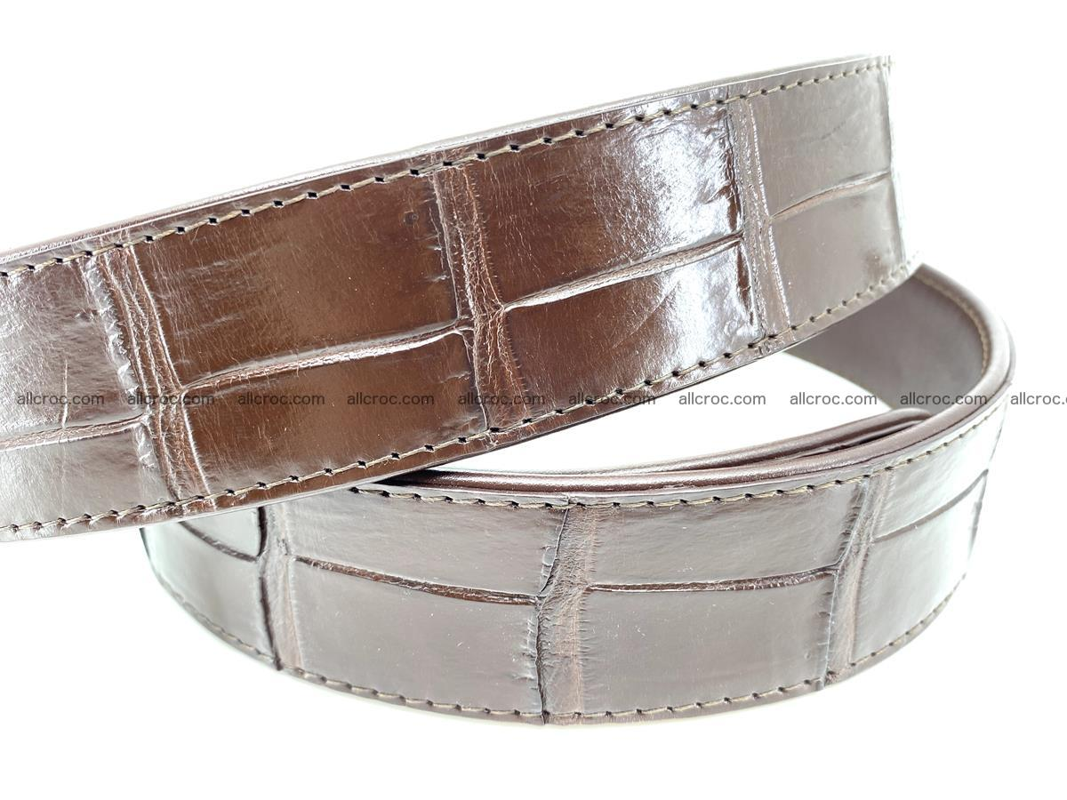 Handcrafted crocodile leather belt belly part 755 Foto 4