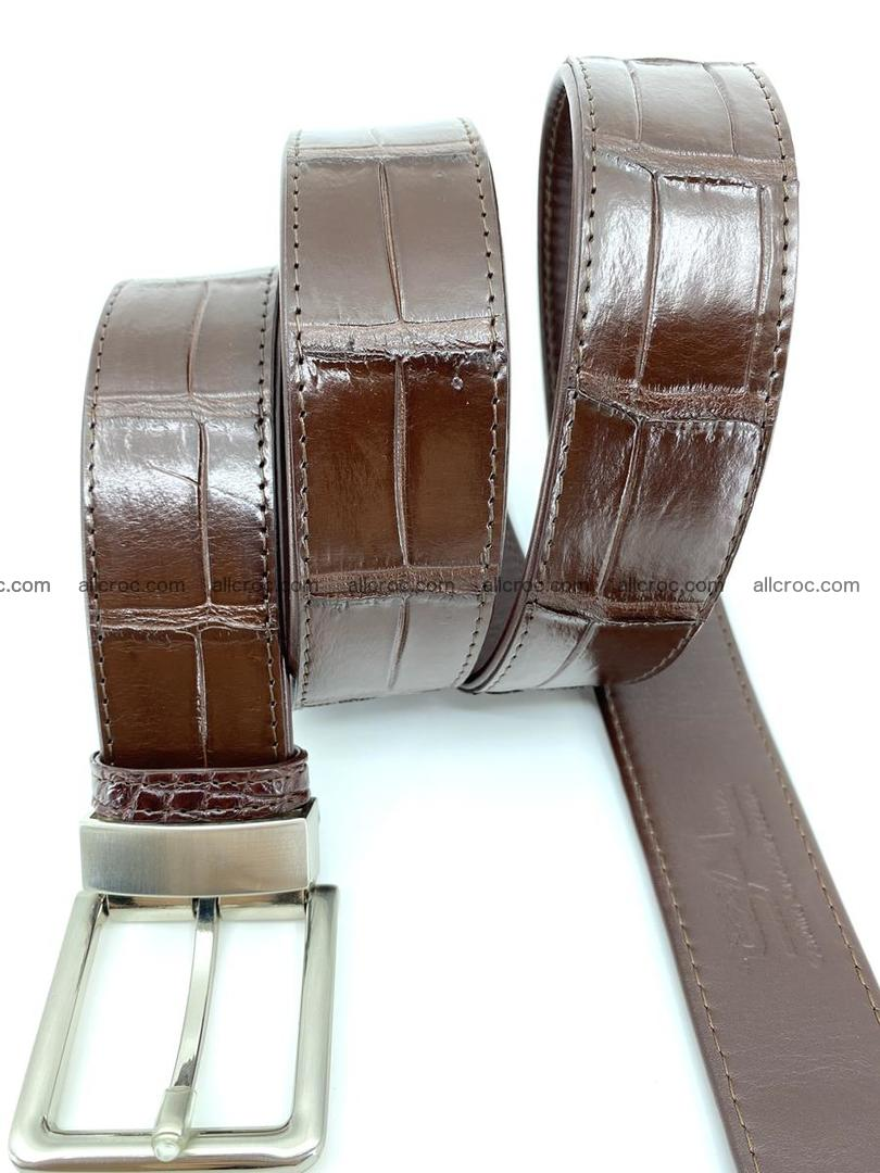 Handcrafted crocodile leather belt belly part 755 Foto 6
