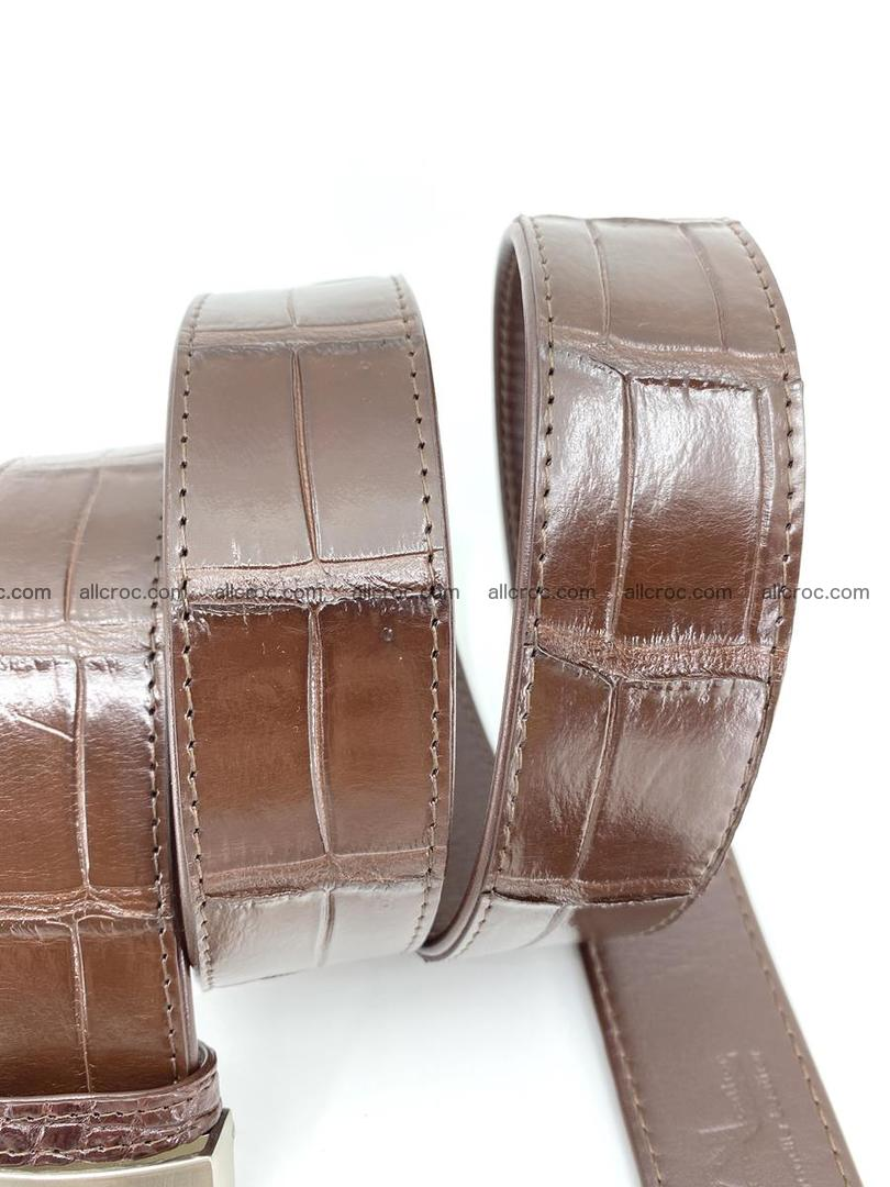 Handcrafted crocodile leather belt belly part 755 Foto 7