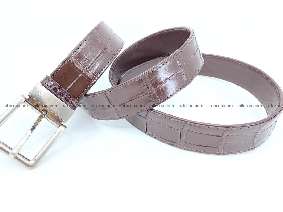 Handcrafted crocodile leather belt belly part 755 Foto 8