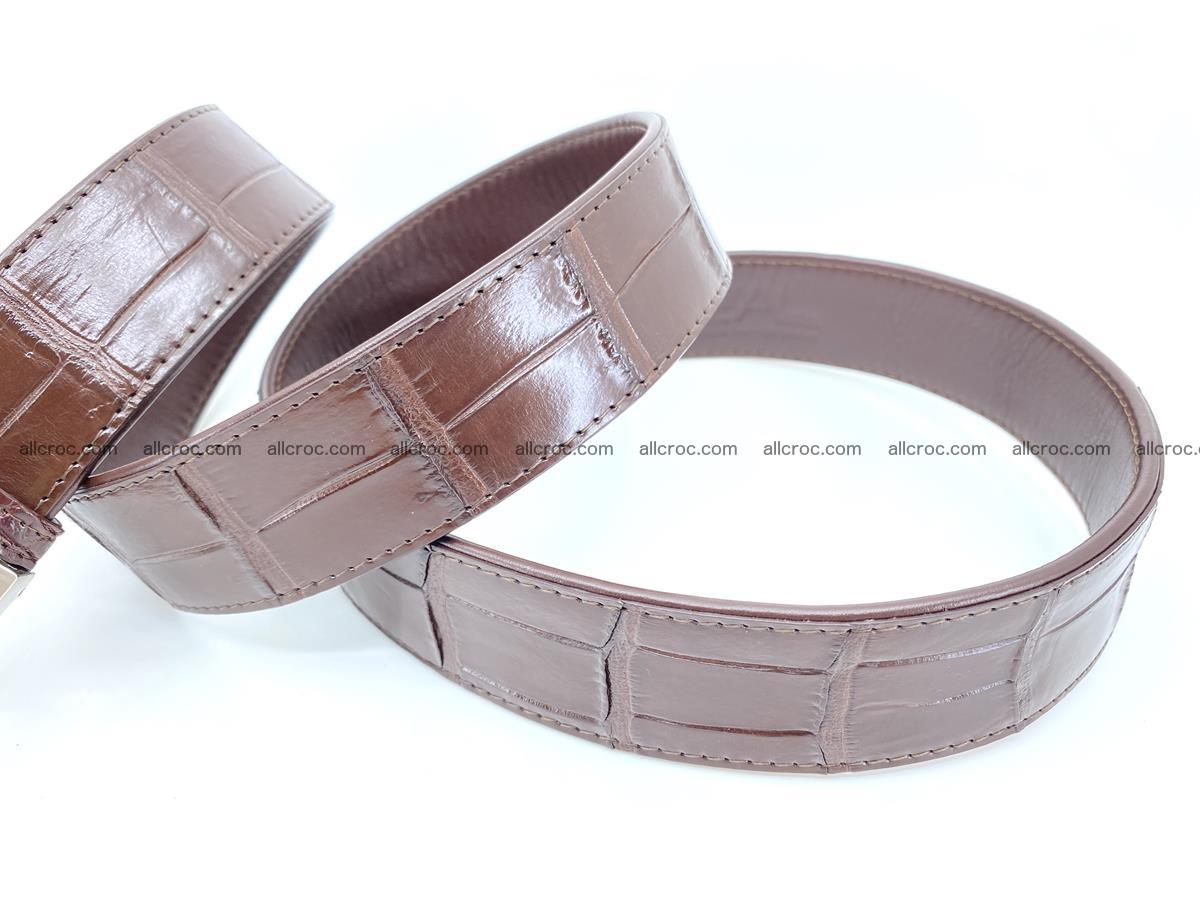 Handcrafted crocodile leather belt belly part 755 Foto 9
