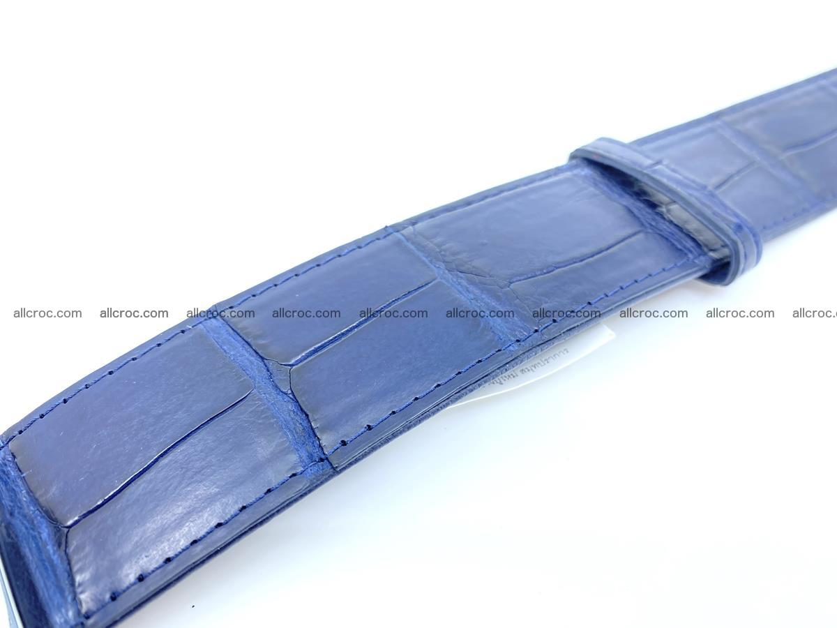 Handcrafted crocodile leather belt belly part 756 Foto 3