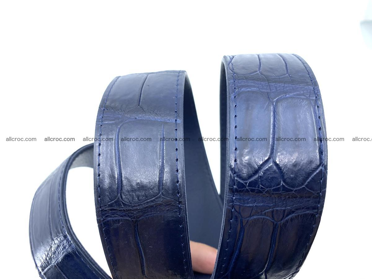 Handcrafted crocodile leather belt belly part 756 Foto 6