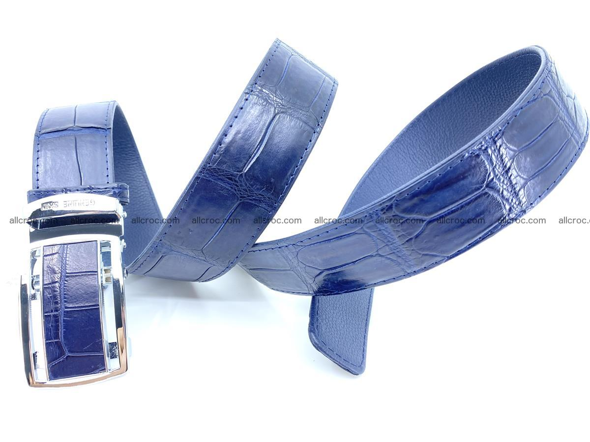 Handcrafted crocodile leather belt belly part 756 Foto 8