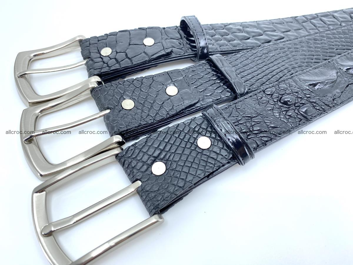Handcrafted Crocodile leather belt 749 Foto 10