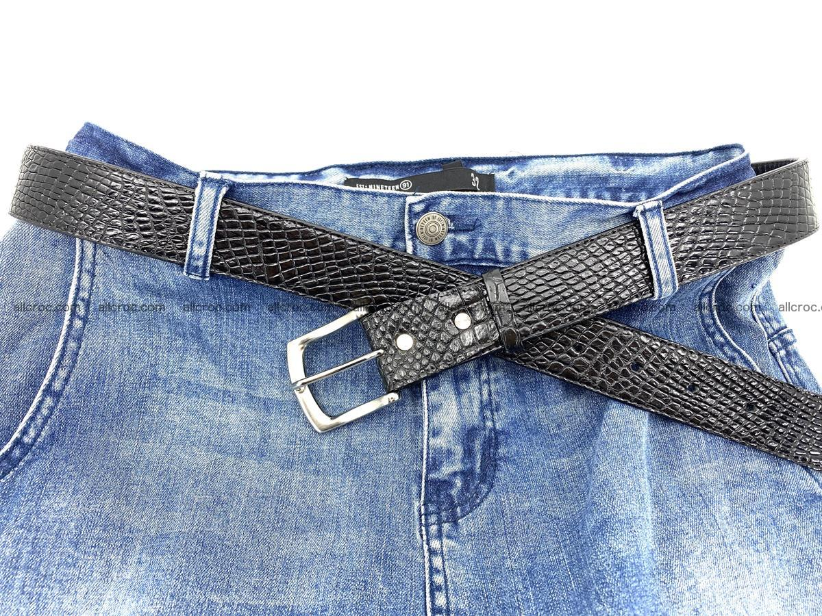 Handcrafted Crocodile leather belt 751 Foto 8