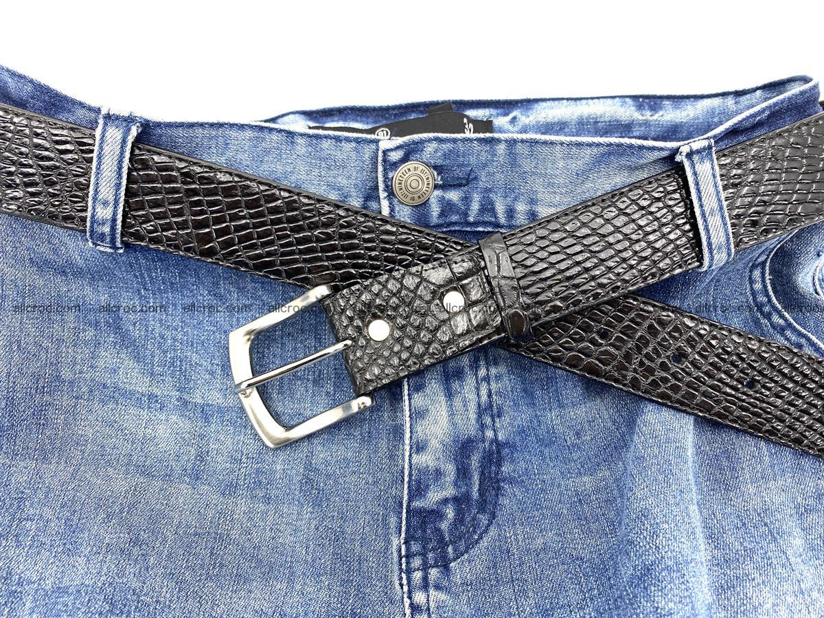 Handcrafted Crocodile leather belt 751 Foto 10