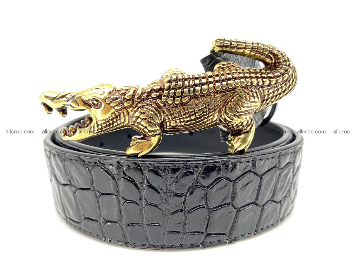 Handcrafted Crocodile leather belt 769 Foto 0