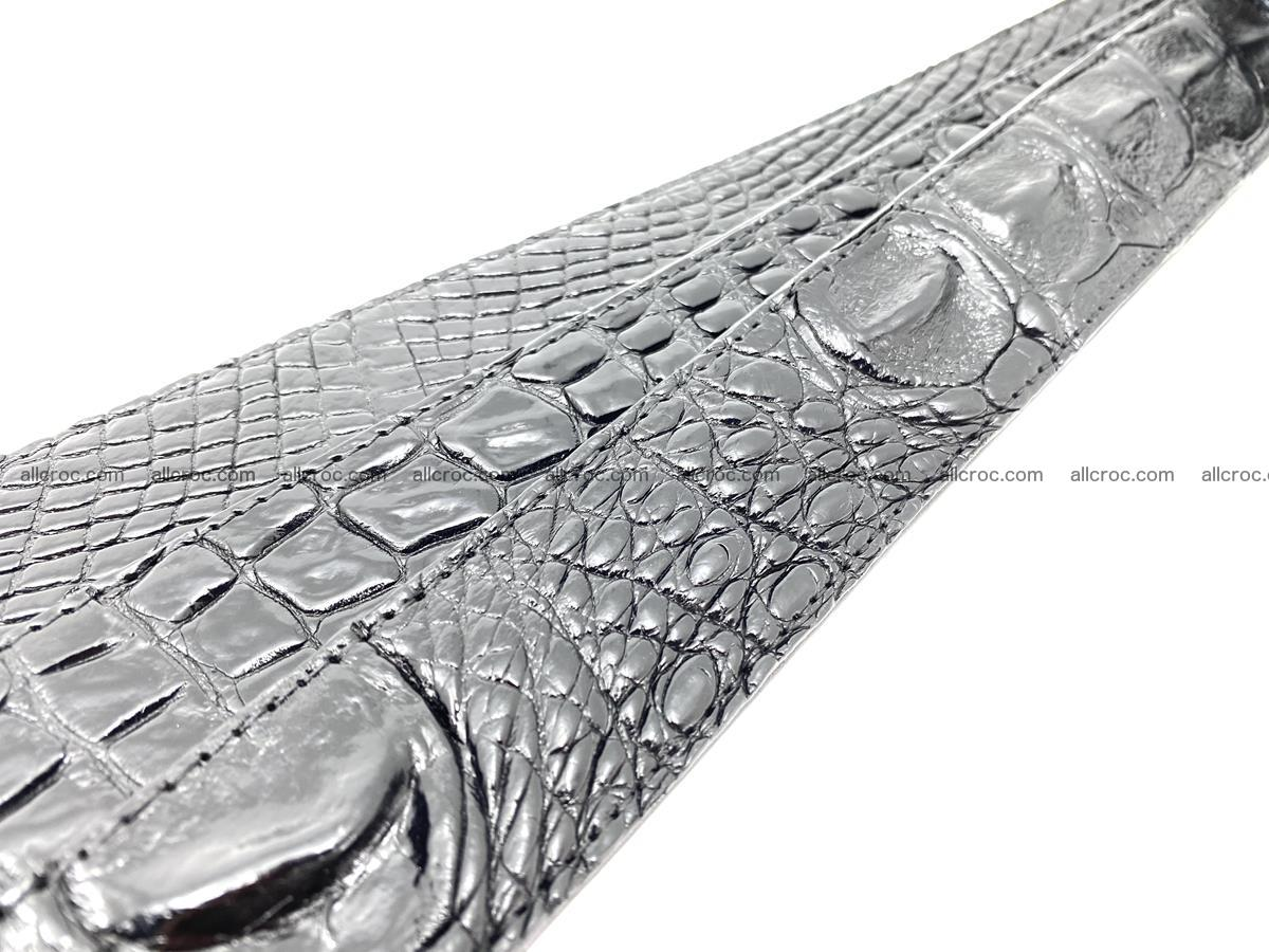 Handcrafted Crocodile leather belt 767 Foto 15