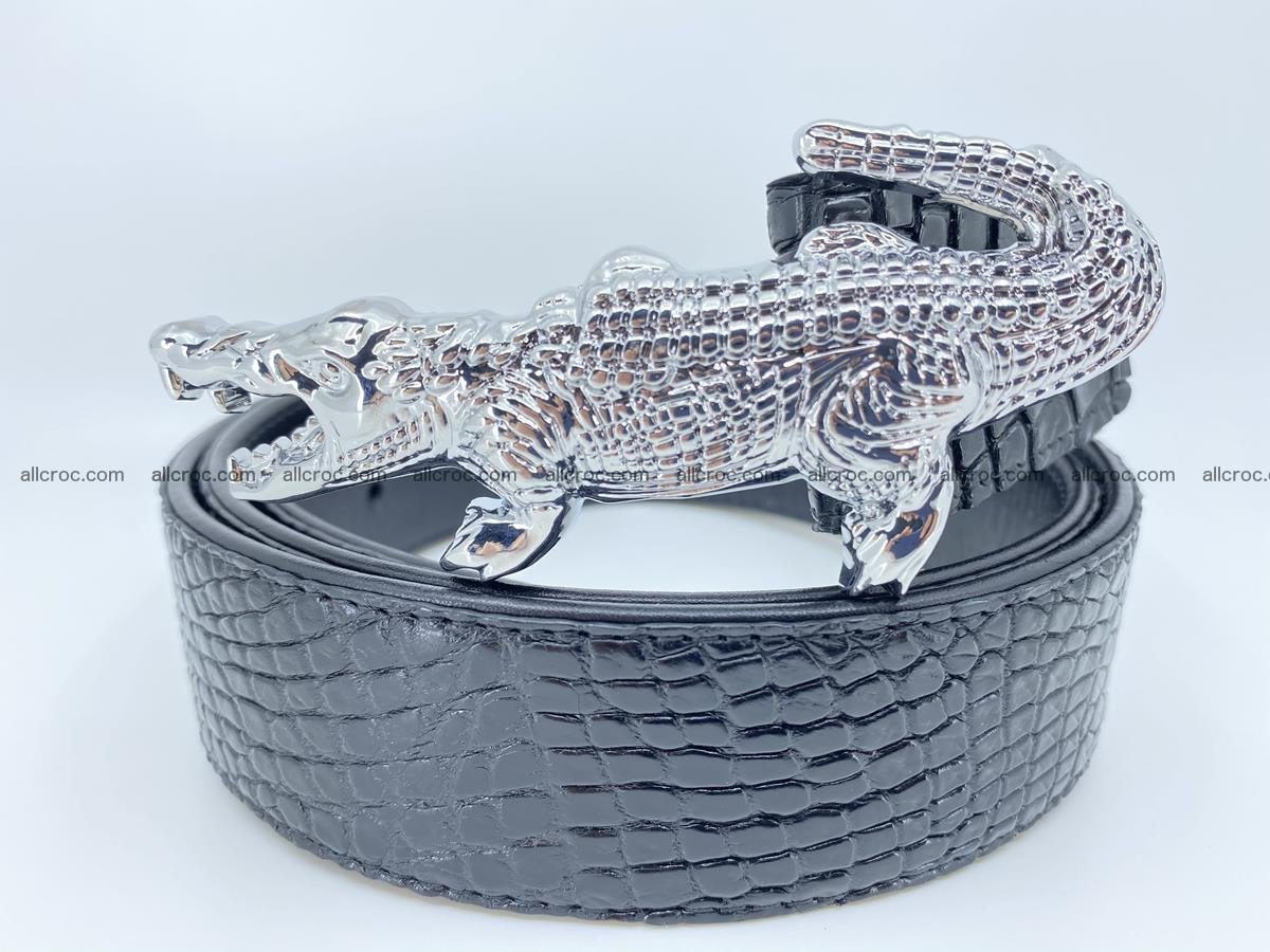 Handcrafted Crocodile leather belt 767 Foto 1