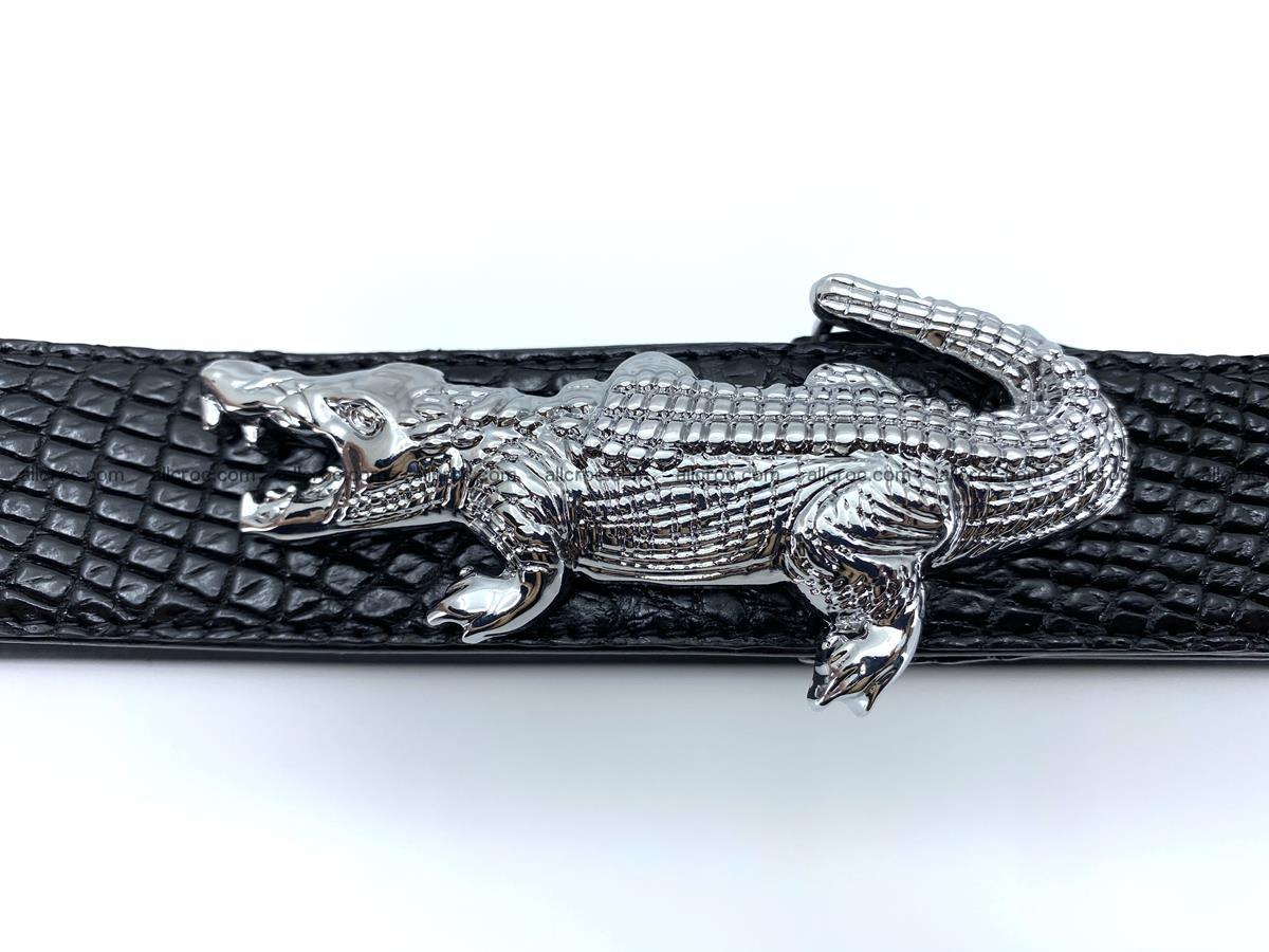 Handcrafted Crocodile leather belt 767 Foto 5