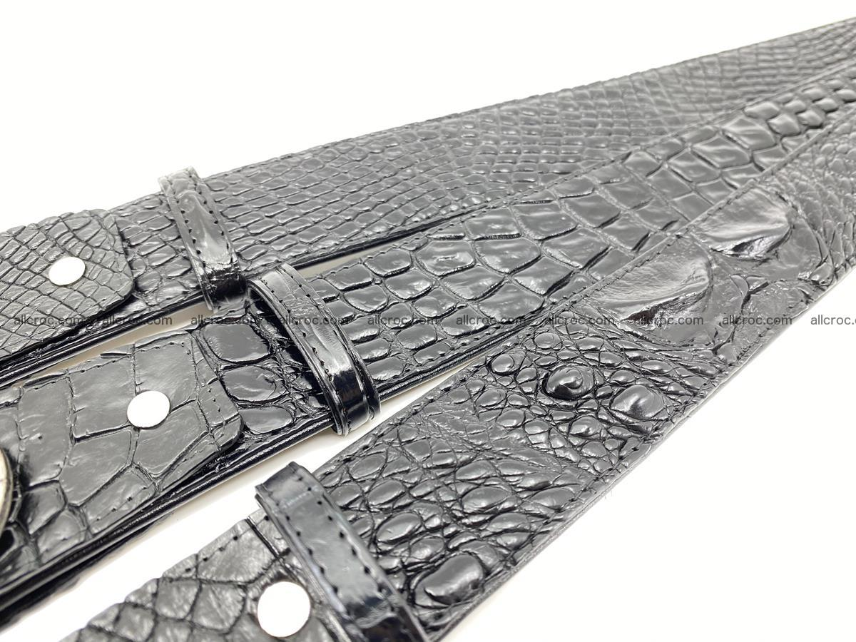 Handcrafted Crocodile leather belt 775 Foto 11