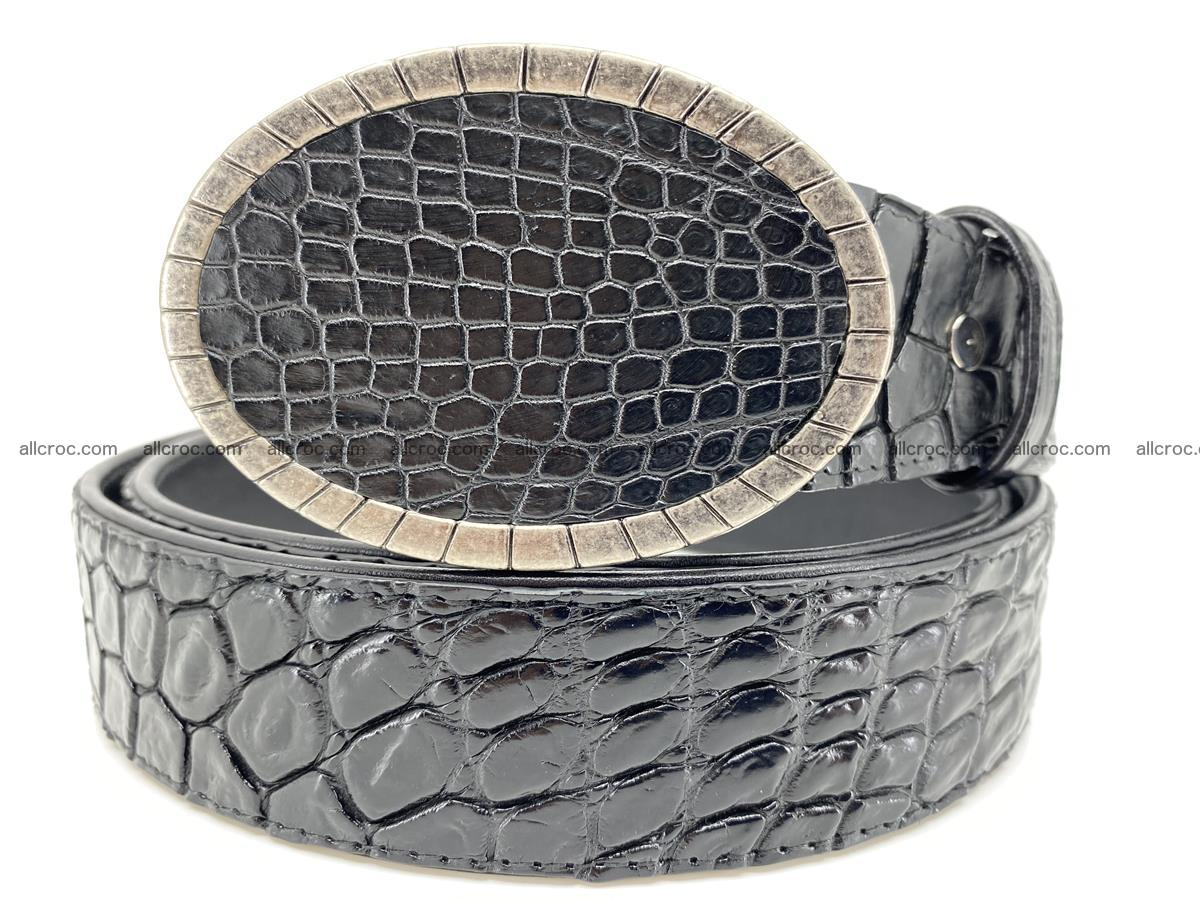 Handcrafted Crocodile leather belt 775 Foto 0