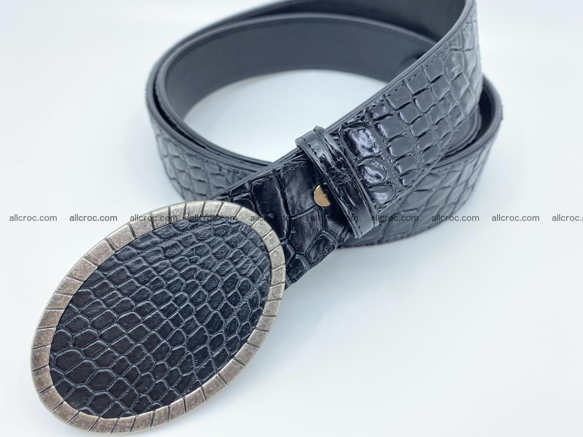 Handcrafted Crocodile leather belt 775 Foto 1