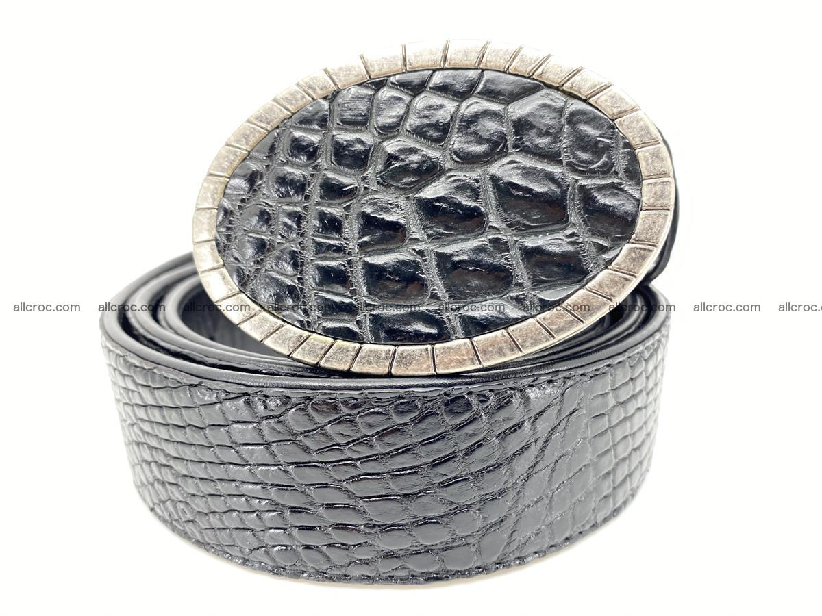 Handcrafted Crocodile leather belt 776 Foto 0