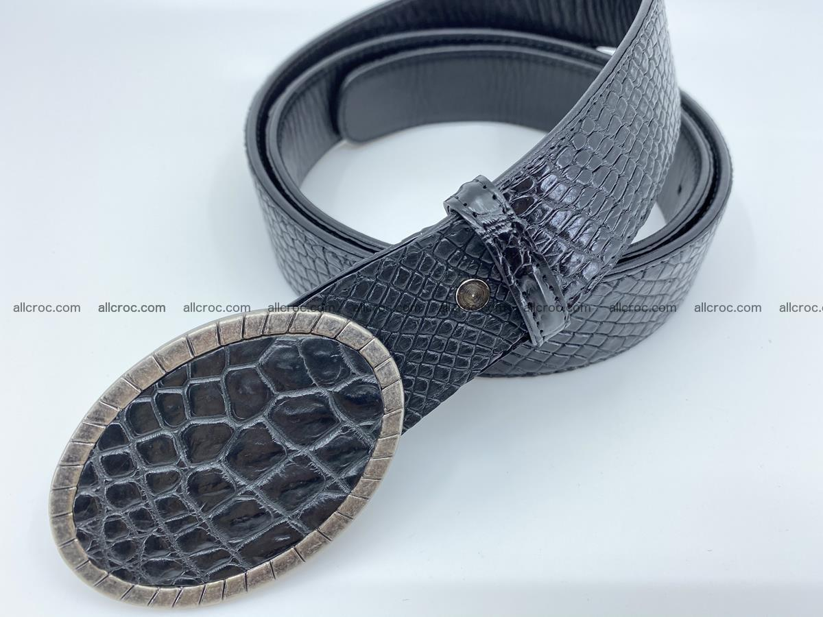 Handcrafted Crocodile leather belt 776 Foto 1