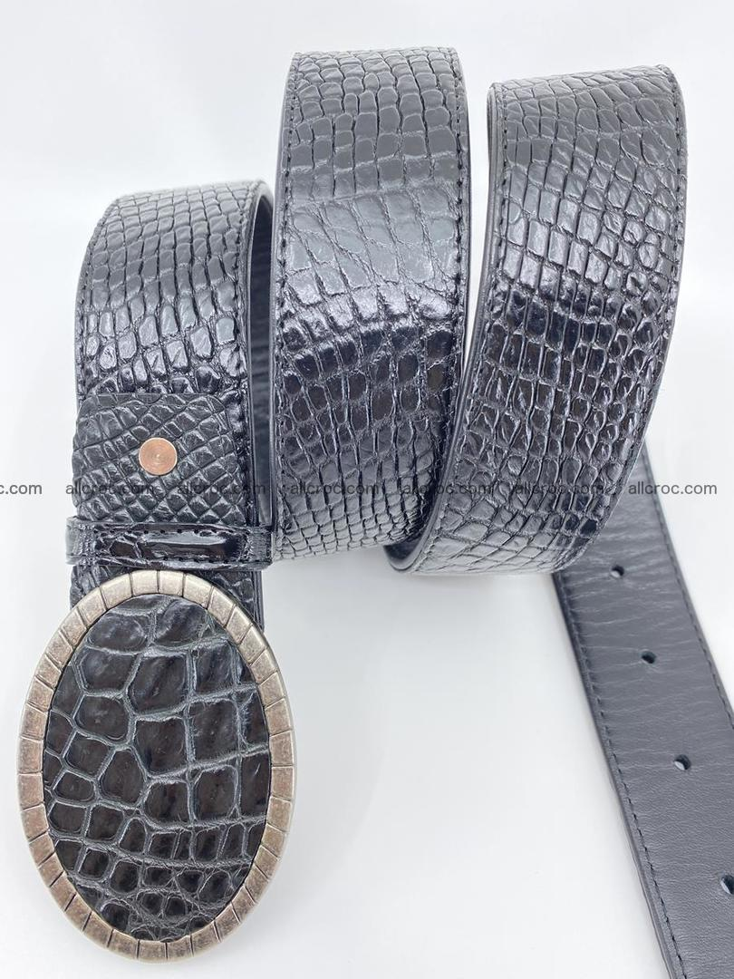 Handcrafted Crocodile leather belt 776 Foto 2