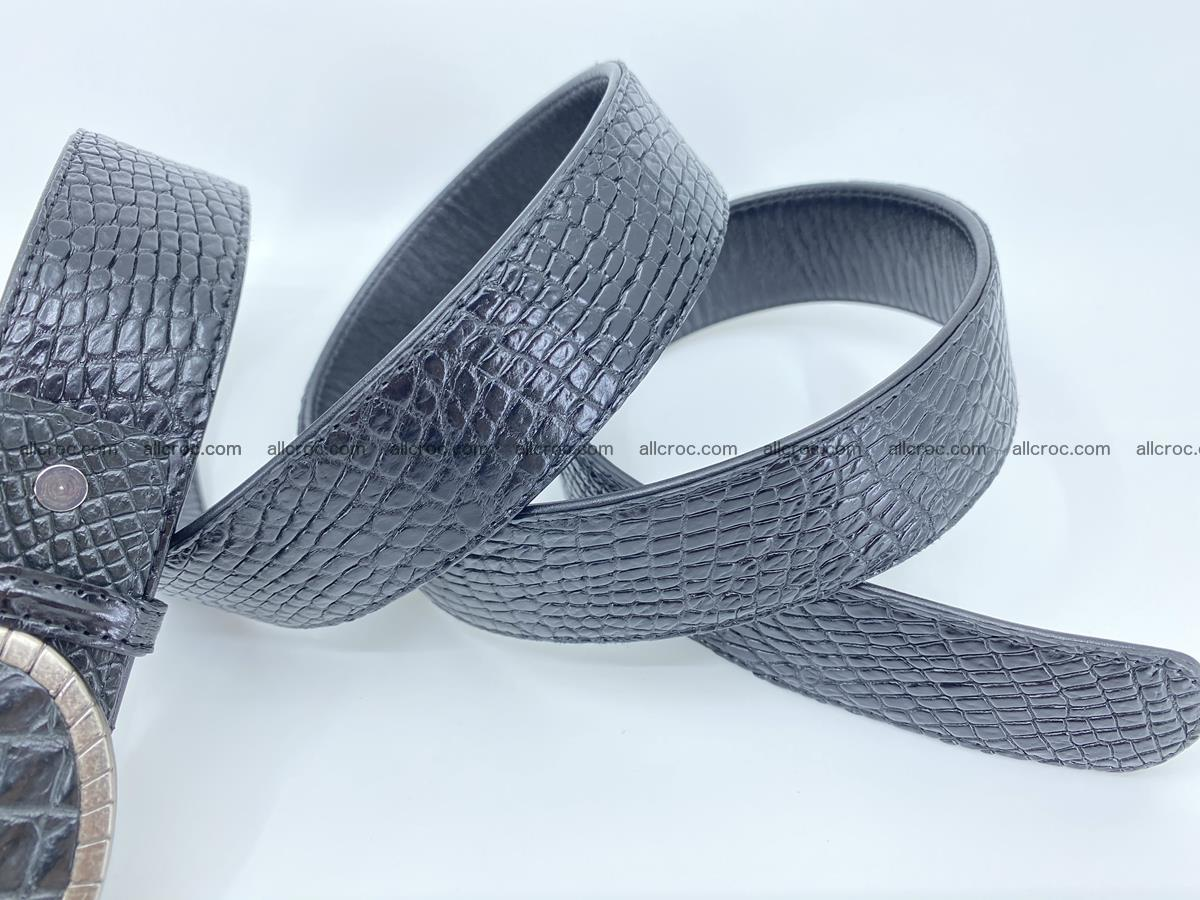 Handcrafted Crocodile leather belt 776 Foto 5
