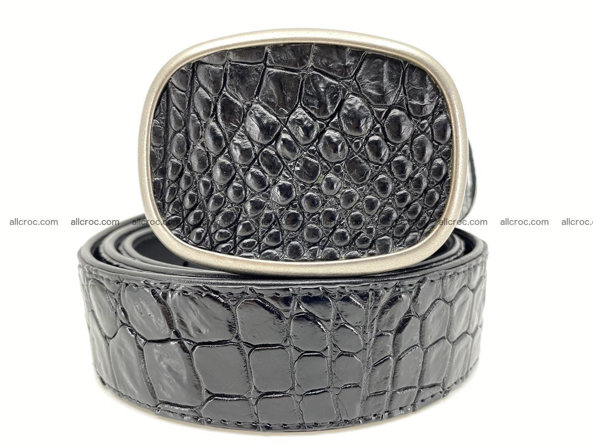 Handcrafted Crocodile leather belt 777 Foto 0