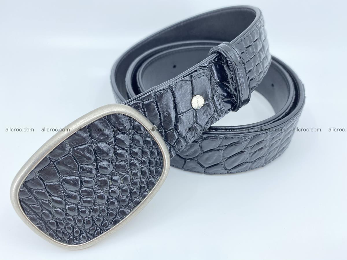 Handcrafted Crocodile leather belt 777 Foto 1
