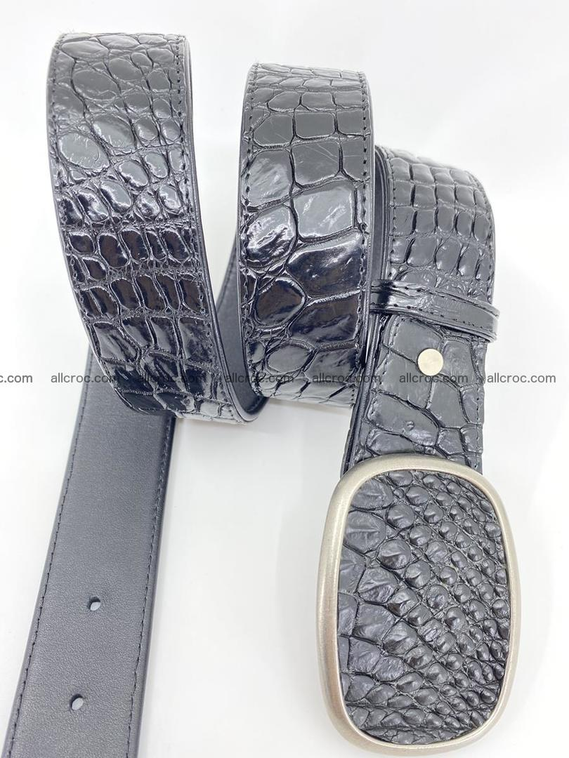Handcrafted Crocodile leather belt 777 Foto 2