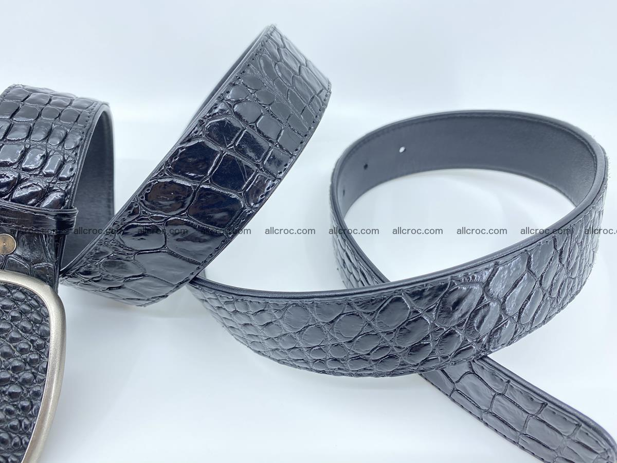 Handcrafted Crocodile leather belt 777 Foto 4