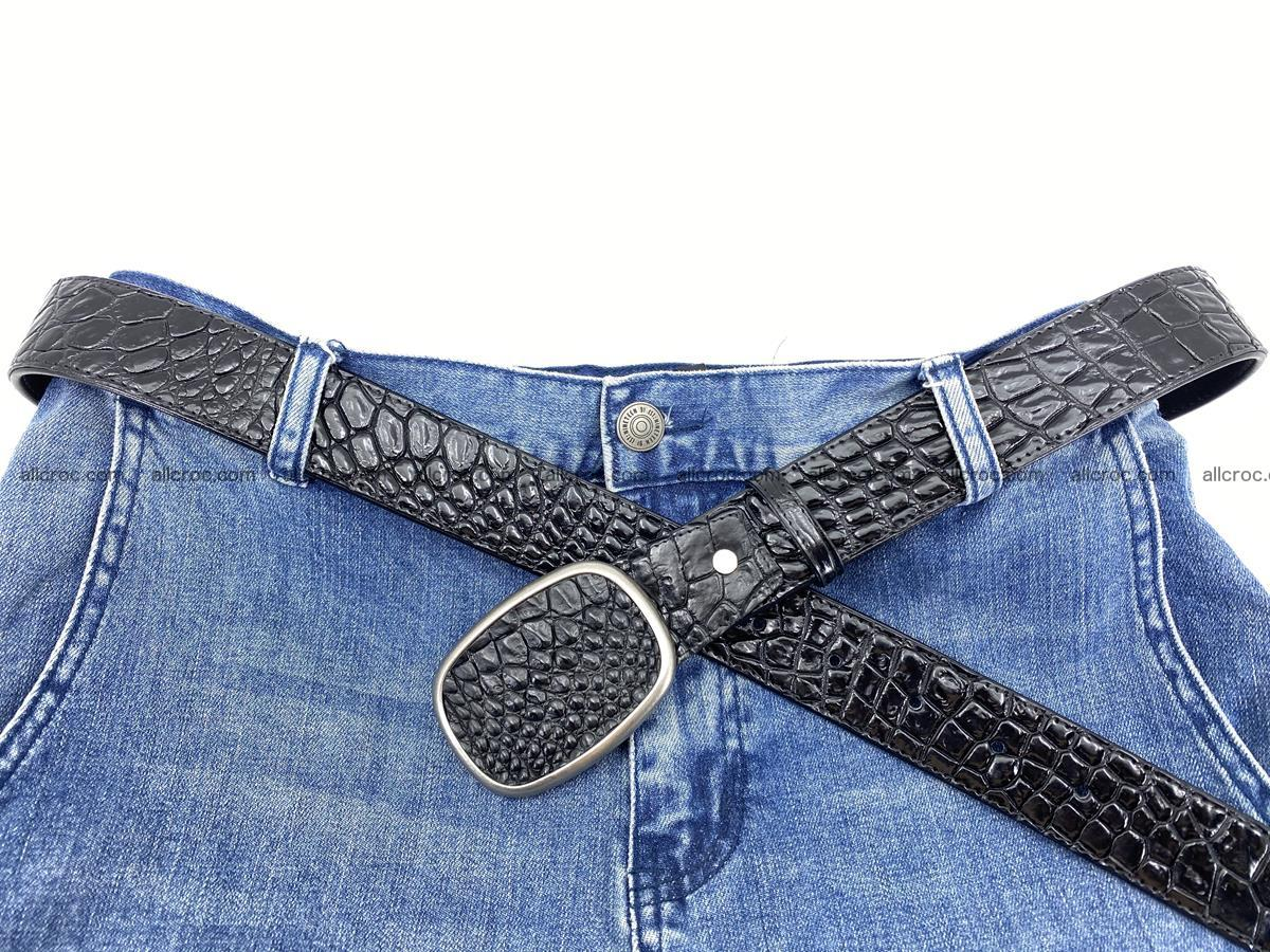 Handcrafted Crocodile leather belt 777 Foto 5