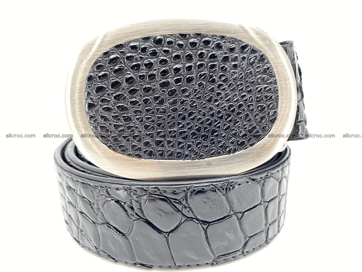 Handcrafted Crocodile leather belt 792 Foto 0