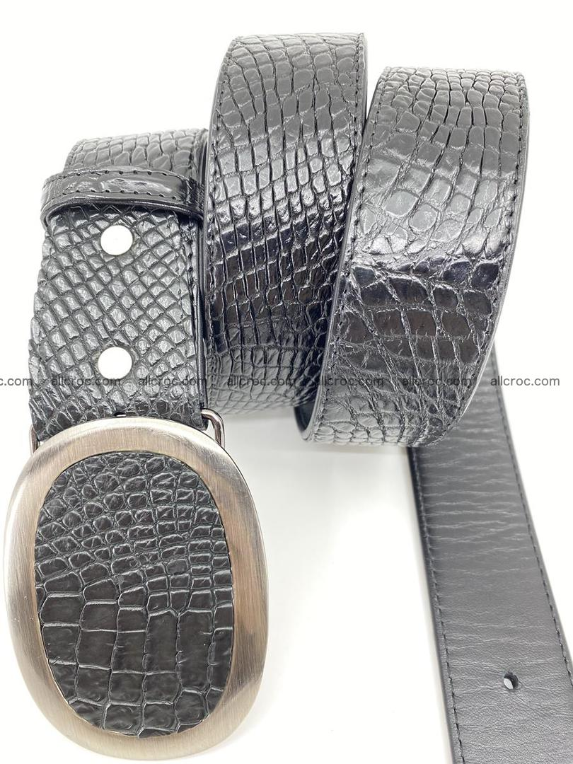 Handcrafted Crocodile leather belt 793 Foto 2