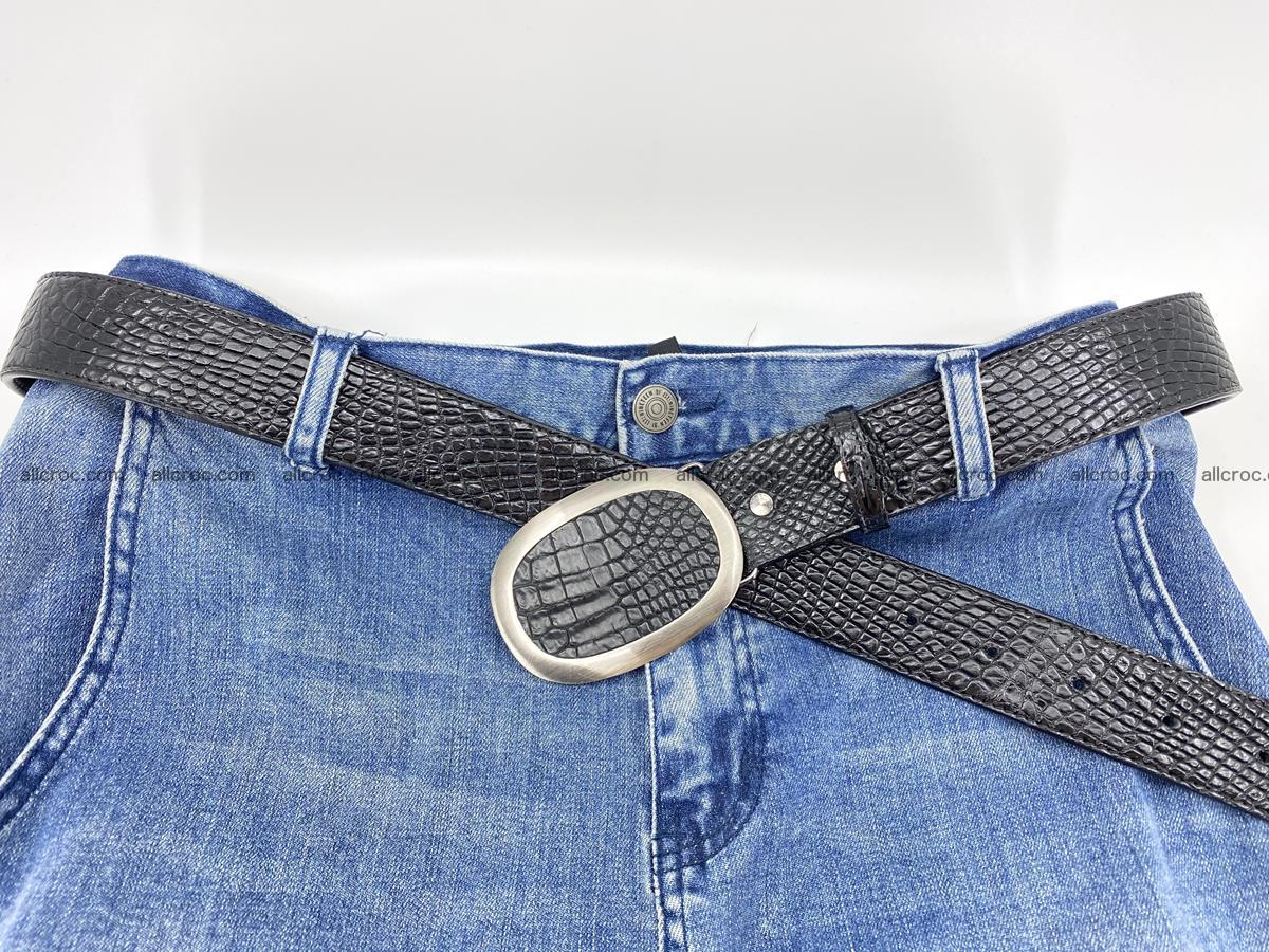 Handcrafted Crocodile leather belt 793 Foto 3