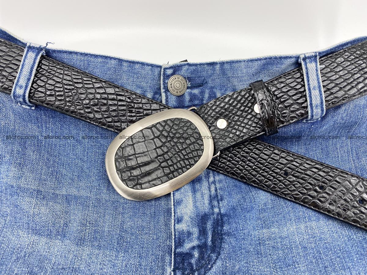 Handcrafted Crocodile leather belt 793 Foto 4